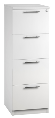 Filing Cabinet 4 Drawer White V1 01 (FLAT)