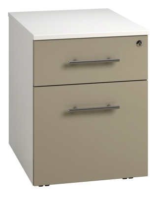 Low Mobile 2 Drawer Unit - Stone (FLAT)