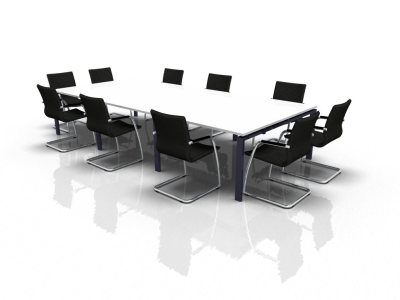 Rectangular Meeting Table Extension 4