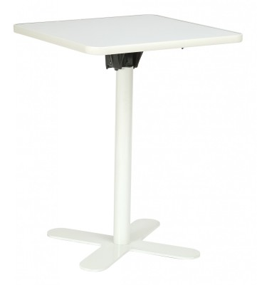 Oxo Flip Top Table White Down Side On