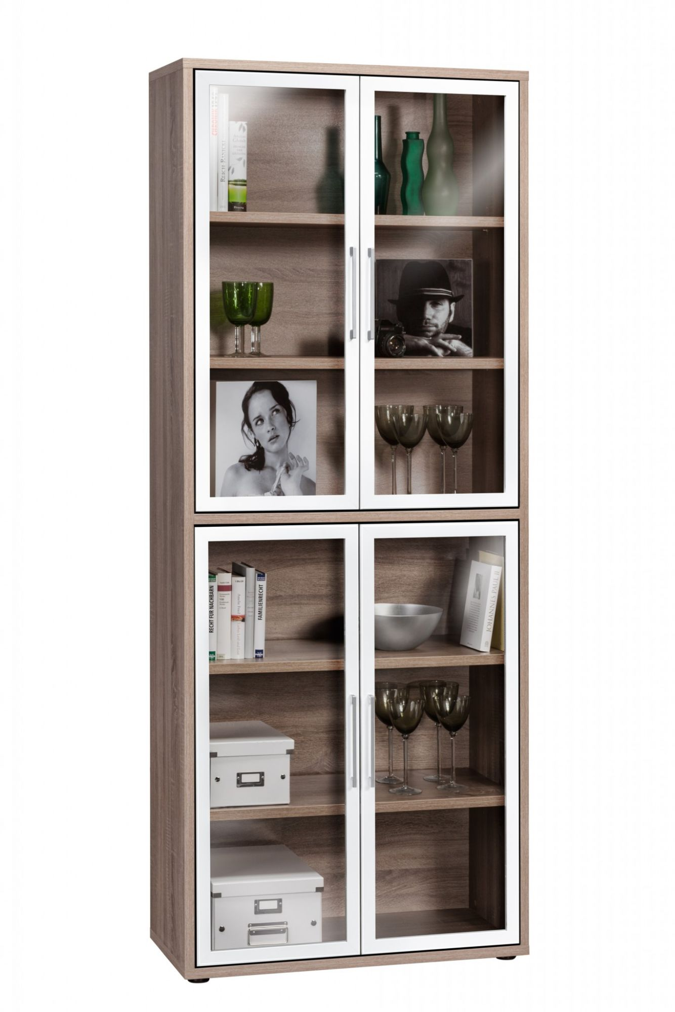 tall storage cabinet with glass door indio online reality. Black Bedroom Furniture Sets. Home Design Ideas