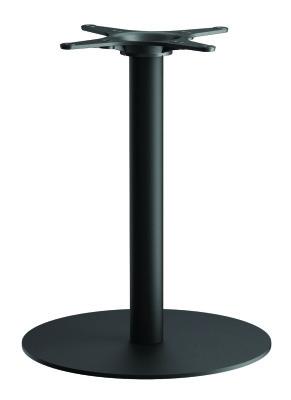Zeta B2 Round Shown With Black Round Dining Height Column