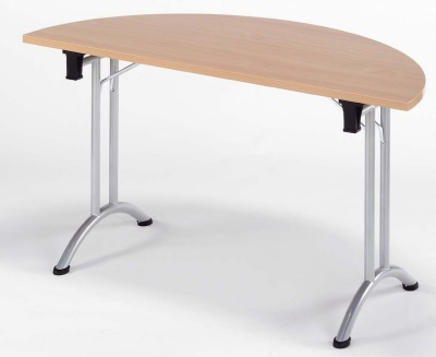Half Moon Folding Meeting Table Connex 1400mm X 700mm Online Reality