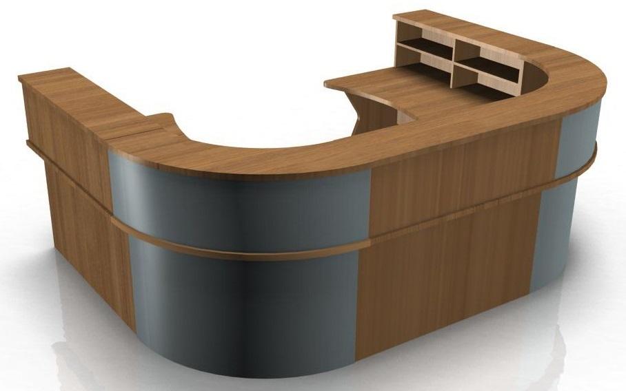 U Shape Reception Desk With K Panel Ends Kompass
