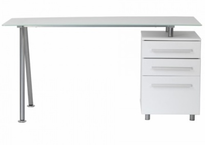 Alphason Cleveland 3 Aw23996 White Glass Computer Desk Go Buy Direct 6