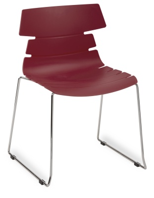 Hoxton Side Chair Frame B 360001 BURGANDY