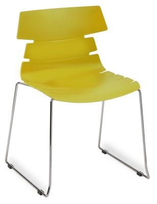 Hoxton Side Chair Frame B 360001 Mustard
