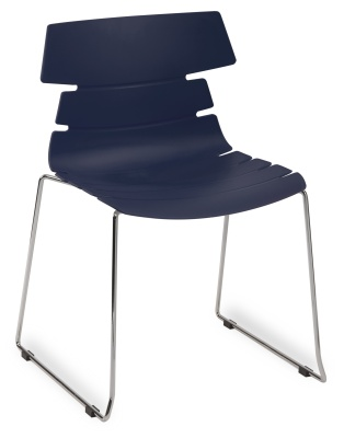 Hoxton Side Chair Frame B 360001 Navy