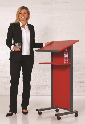 LECTERN RED BACK
