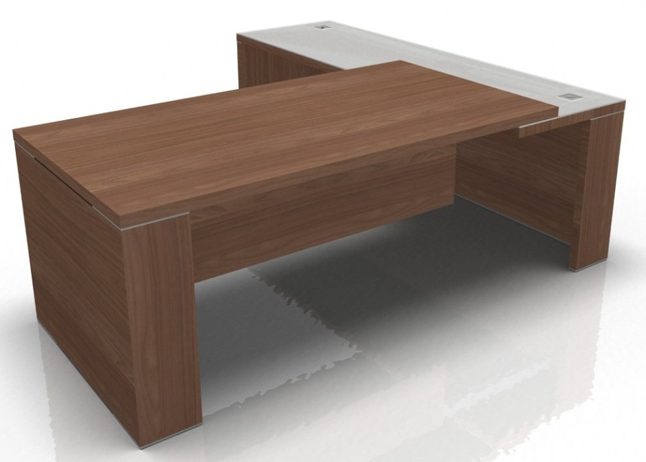 Odessa Executive Desk With Non Aligned Glass Return 1700mm X 2000mm Online Reality