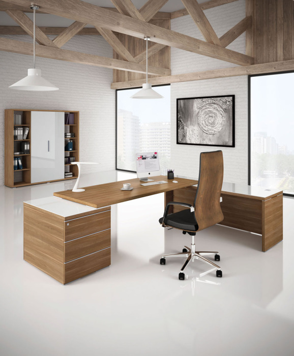 Odessa Executive Desk With Giant Pedestal And Return 2100mm X 2000mm Online Reality