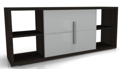 Low Counter With Glass Door D Oak