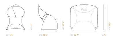 Dimensions-flux-chair