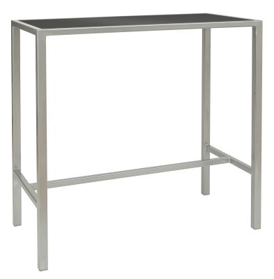 Brew-rectangular-bar-table,-black-silver-compressor