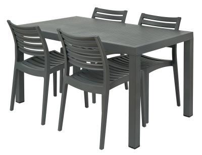 Melbourne Group Shot 4 X Sc & Rectangular Table Grey