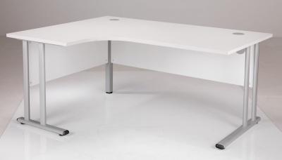 White Left Hand Corner Desk