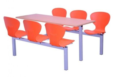 Six Seater Orange Dining Unit