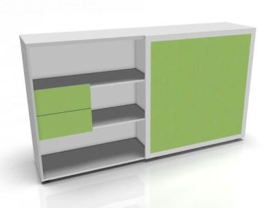 Green Sliding Door Storage Unit