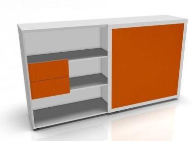 Orange Sliding Door Storage Unit