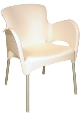 White Outdoor Thermoplastic Chair
