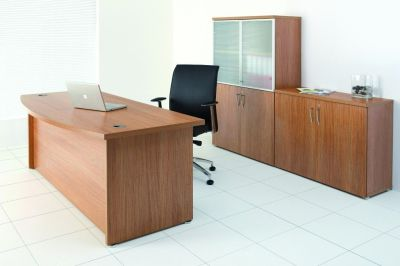 Complete Regency Office Furniture Range In Light Walnut