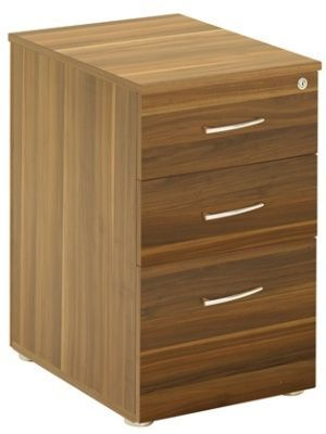 Regency 3 Drawer Under Desk Pedestal In A Dark Walnut Finish