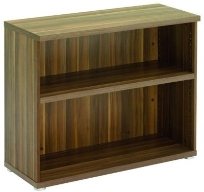 Regency Low Single Shelve Bookcase In Dark Walnut