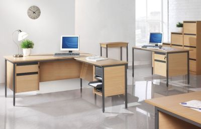 Free Next Day Maddellex Office Furniture Range In A Beech Finish