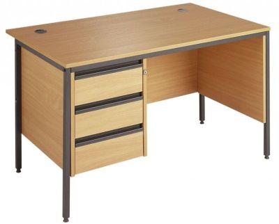 Next Day Maddellex Side Panel Desk With Three Drawer Suspended Pedestal