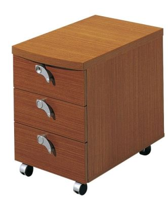 Washington Three Drawer Pedestal In A Rich Sycamore Finish