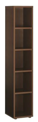 Santos Narrow Bookcase In A Dark Finish