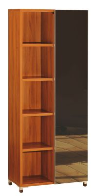 Modern Santos Bookcase With Glass Sliding Door