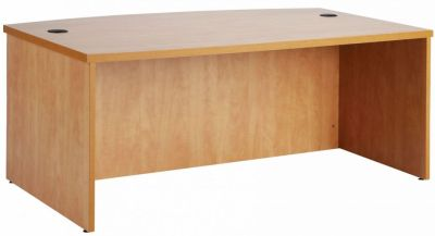 Prime Bow Fronted Executive Desk In Rich MFC Finish