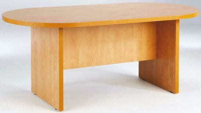 Prime Oval Boardroom Table In A Rich Lucida Pear Finish