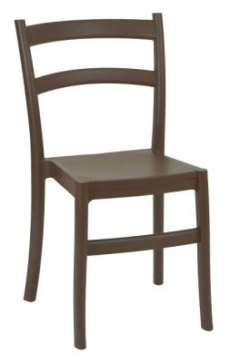 Cleo Stackable Poly Chair Brown