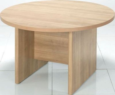 E Space Round Meeting Room Table In Warm Cappuccino Finish
