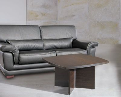 Fashionable Caba Coffee Table With Cruciform Leg Design In A Wenge Finish