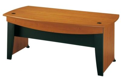 Modern Jazz Executive Rectangular Office Desk With Modesty Panel In An Alder Finish