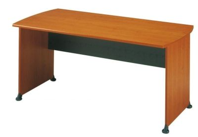 Modern Jazz Executive Rectangular Desk With Modesty Panel In An Alder Finish