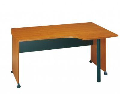Fashionable Jazz Corner Office Desk In A Warm Alder Finish
