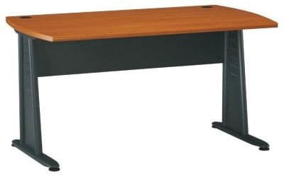 Executive Jazz Rectangular Desk With Stylish Metal Legs
