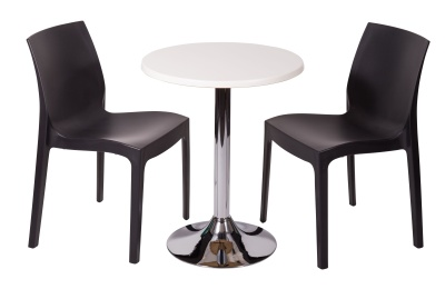 Black And White Cafe Set