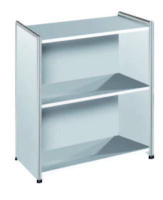 Artoline Low Bookcase Unit Wide In White