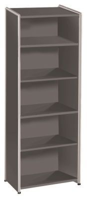Artoline High Bookcase Unit Wide In Anthracite