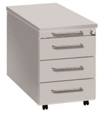 Artoline Desk Pedestal 4 Drawer In White