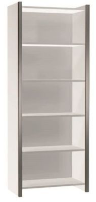 Zed Style Tall Bookcase Wide In White