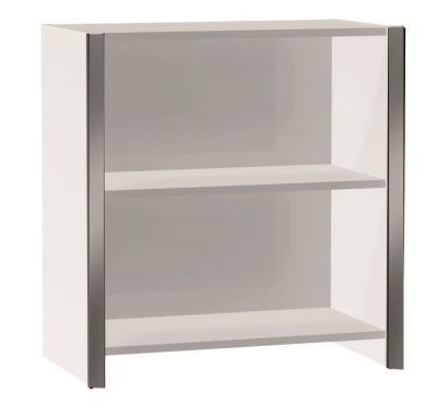 Zed Style Low Bookcase In White