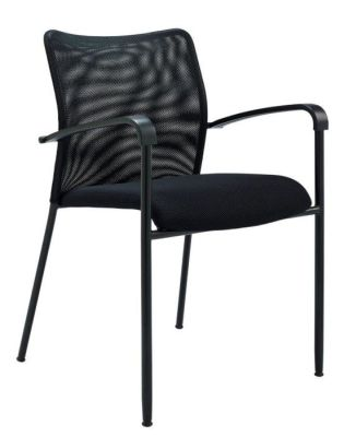 Bostromi Mesh Conference Chair At An Angle In Black