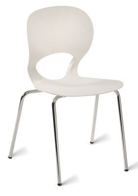 Acasta Poly Side Chair In White