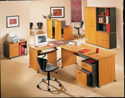 Designer Office Space Created With The Jazz Executive Office Furniture Range